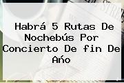 Habrá 5 Rutas De Nochebús Por Concierto De <b>fin De Año</b>