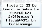 Hasta El 23 De Enero Se Sabrá La Suerte Del &#039;<b>pico Y Placa</b>&#039; En <b>Bucaramanga</b>