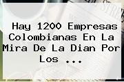 Hay 1200 Empresas Colombianas En La Mira De La <b>Dian</b> Por Los ...