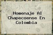 <b>Homenaje</b> Al <b>Chapecoense</b> En Colombia