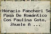 Horacio Pancheri Se Pasa De Romántico Con <b>Paulina Goto</b>, ¿huele A ...
