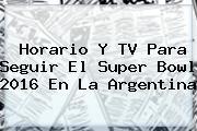 Horario Y TV Para Seguir El <b>Super Bowl</b> 2016 En La Argentina