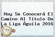 Hoy Se Conocerá El Camino Al Título De La <b>Liga Águila</b> 2016