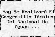 <b>Hoy</b> Se Realizará El Congresillo Técnico Del <b>Nacional</b> De Aguas ...