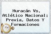 <b>Huracán Vs</b>. Atlético <b>Nacional</b>: Previa, Datos Y Formaciones