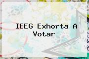 <b>IEEG</b> Exhorta A Votar