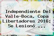 Independiente Del Valle-Boca, <b>Copa Libertadores 2016</b>: Se Lesionó ...