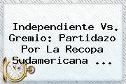 Independiente Vs. Gremio: Partidazo Por La Recopa Sudamericana ...