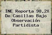 <b>INE</b> Reporta 98.2% De Casillas Bajo Observación Partidista