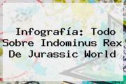 Infografía: Todo Sobre <b>Indominus Rex</b> De Jurassic World