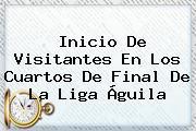 Inicio De Visitantes En Los Cuartos De Final De La <b>Liga Águila</b>