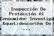 Inspección De <b>Protección</b> Al Consumidor Investiga &quot;descorche De ...