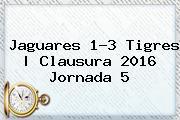 <b>Jaguares</b> 1-3 <b>Tigres</b> | Clausura <b>2016</b> Jornada 5