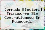 <b>Jornada</b> Electoral Transcurre Sin Contratiempos En Pesquería