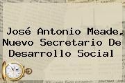 <b>José Antonio Meade</b>, Nuevo Secretario De Desarrollo Social
