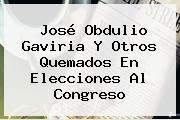 José Obdulio Gaviria Y Otros Quemados En Elecciones Al Congreso