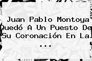 <b>Juan Pablo Montoya</b> Quedó A Un Puesto De Su Coronación En La <b>...</b>