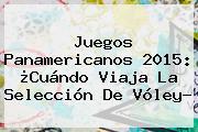 Juegos <b>Panamericanos 2015</b>: ¿Cuándo Viaja La Selección De Vóley?