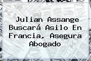 <b>Julian Assange</b> Buscará Asilo En Francia, Asegura Abogado