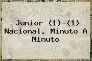 <b>Junior</b> (1)-(1) Nacional, Minuto A Minuto