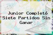 <b>Junior</b> Completó Siete Partidos Sin Ganar