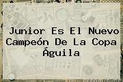 Junior Es El Nuevo Campeón De La <b>Copa Águila</b>