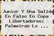 <b>Junior</b> Y Una Salida En Falso En Copa Libertadores: <b>Palmeiras</b> Lo ...