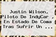 Justin Wilson, Piloto De <b>IndyCar</b> , En Estado De Coma Tras Sufrir Un <b>...</b>