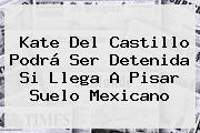<b>Kate Del Castillo</b> Podrá Ser Detenida Si Llega A Pisar Suelo Mexicano