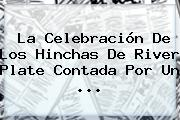 La Celebración De Los Hinchas De <b>River Plate</b> Contada Por Un <b>...</b>
