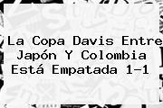 La <b>Copa Davis</b> Entre Japón Y Colombia Está Empatada 1-1