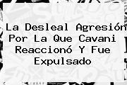 La Desleal Agresión Por La Que <b>Cavani</b> Reaccionó Y Fue Expulsado
