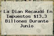 La <b>Dian</b> Recaudó En Impuestos $13.3 Billones Durante Junio