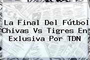 La Final Del Fútbol <b>Chivas Vs Tigres</b> En Exlusiva Por TDN