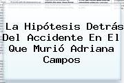 La Hipótesis Detrás Del Accidente En El Que Murió <b>Adriana Campos</b>