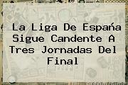 <b>La Liga</b> De España Sigue Candente A Tres Jornadas Del Final