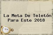 La Meta De <b>Teletón</b> Para Este <b>2018</b>
