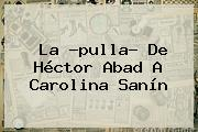 La ?pulla? De Héctor Abad A <b>Carolina Sanín</b>