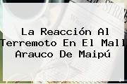 La Reacción Al Terremoto En El Mall Arauco De Maipú