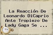 La Reacción De <b>Leonardo DiCaprio</b> Ante Tropiezo De Lady Gaga Se <b>...</b>