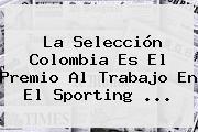 La Selección Colombia Es El Premio Al Trabajo En El Sporting <b>...</b>