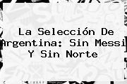 La Selección De <b>Argentina</b>: Sin Messi Y Sin Norte