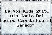 <b>La Voz Kids 2015</b>: Luis Mario Del Equipo Cepeda Fue El Ganador