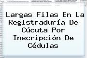 Largas Filas En La <b>Registraduría</b> De Cúcuta Por Inscripción De Cédulas