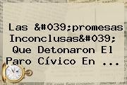 Las 'promesas Inconclusas' Que Detonaron El Paro Cívico En ...