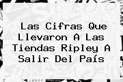 Las Cifras Que Llevaron A Las Tiendas <b>Ripley</b> A Salir Del País