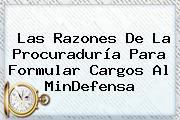 Las Razones De La <b>Procuraduría</b> Para Formular Cargos Al MinDefensa