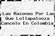 Las Razones Por Las Que <b>Lollapalooza</b> Cancelo En Colombia