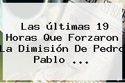 Las últimas 19 Horas Que Forzaron La Dimisión De <b>Pedro Pablo</b> ...