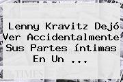 <b>Lenny Kravitz</b> Dejó Ver Accidentalmente Sus Partes íntimas En Un <b>...</b>